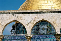 Omar mosque. Details and close-up of the Omar mosque. Jerusalem City Stock Images
