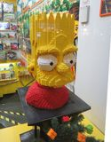 Omar Simpson met Lego-bakstenen wordt gemaakt die Royalty-vrije Stock Foto's