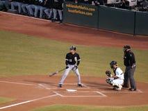 Omar Vizquel stands in the batters box waving bat Stock Photos