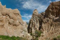 Omarama Clay cliffs near Twizel Stock Photography