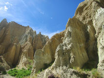 Omarama Clay cliffs near Twizel Royalty Free Stock Photo