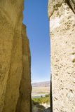 Omarama Clay Cliffs, towering walls. Royalty Free Stock Photo
