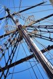 Omasztowanie duży drewniany żeglowanie statek, szczegółowy olinowanie bez żagli Zdjęcie Stock