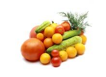 Omatoes, Kirschtomaten rot und gelb Stockbilder