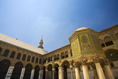 Omayyad Mosque. Syria. Damascus. Omayyad Mosque - south-western part of courtyard with the Dome of the Treasury Stock Image