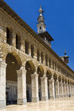 Omayyad Mosque. Syria. Damascus. Omayyad Mosque - northern arcade and the Minaret of the Bride Stock Photography