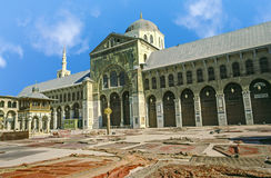 Omayyad Mosque with clear blue sky Royalty Free Stock Image