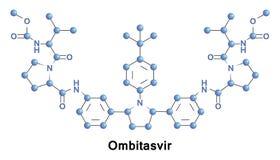 Ombitasvir treatment HCV. Ombitasvir is an antiviral drug for the treatment of HCV genotype 1 Royalty Free Stock Photos