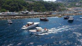 Ombord - ö av Capri Italien arkivfoto