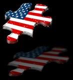 Ombra americana della stella di puzzle Immagine Stock Libera da Diritti