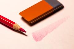 Ombra con la matita Fotografia Stock Libera da Diritti