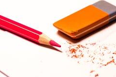 Ombra con la matita Immagine Stock Libera da Diritti