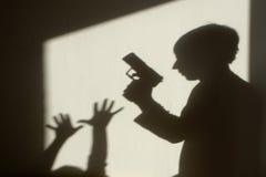 Ombra del crimine fotografia stock libera da diritti
