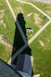 Ombra del faro di Boston come visto dalla cima Fotografie Stock