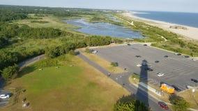 Ombra del faro - punto di Cape May, New Jersey immagini stock libere da diritti