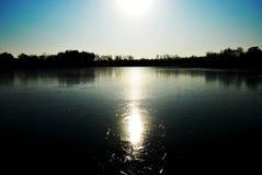 Ombra del lago del ghiaccio e del cielo Fotografia Stock Libera da Diritti