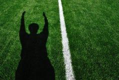 Ombra dell'atterraggio dell'arbitro di football americano Immagini Stock