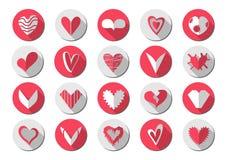 Ombra dell'icona del cuore Immagine Stock