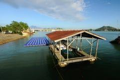 Ombra della barca Fotografia Stock