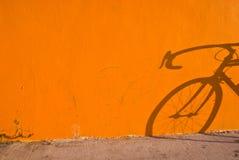 Ombra della bicicletta fotografia stock