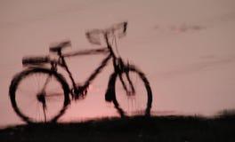 Ombra della bicicletta Fotografie Stock Libere da Diritti