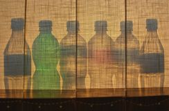 Ombra della bottiglia Fotografia Stock Libera da Diritti