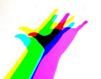 Ombra della mano illustrazione di stock
