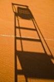 Ombra della presidenza dell'arbitro di tennis immagine stock libera da diritti