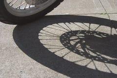 Ombra della rotella fotografie stock