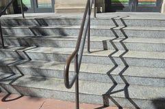 Ombra della scala di zigzag Fotografia Stock