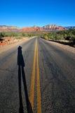 ombra della strada dei fotografi Immagini Stock