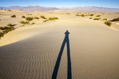 Ombra delle dune di sabbia Fotografia Stock Libera da Diritti