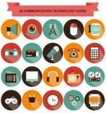 Ombra delle icone di tecnologia della comunicazione Immagine Stock