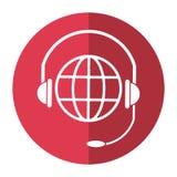 Ombra di comunicazione di servizio della testa del pianeta del mondo Fotografie Stock