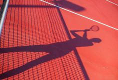 Ombra di concetto della concorrenza di tennis della donna Immagine Stock Libera da Diritti