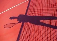 Ombra di concetto della concorrenza di tennis della donna Immagini Stock