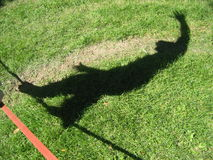 Ombra di Slacklining fotografie stock libere da diritti