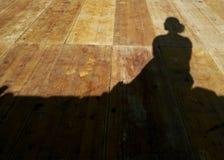 Ombra di una donna Fotografia Stock