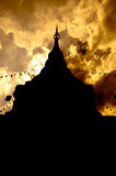 Ombra di una pagoda Fotografia Stock
