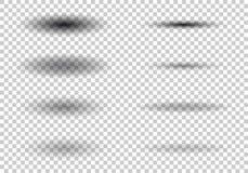Ombra ovale trasparente con i bordi molli Insieme di ombra su fondo a quadretti Illustrazione di vettore illustrazione vettoriale