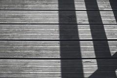 Ombra in pavimento di legno Fotografia Stock