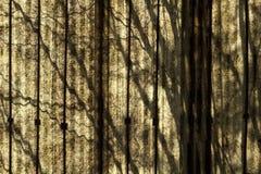 Ombrage l'abstraction sur le panneau de polycarbonate Image libre de droits