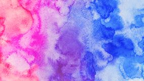 Ombre-Aquarell backgound Illustration des Handabgehobenen betrages lizenzfreie abbildung