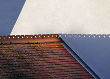 Ombre astratte del tetto Fotografia Stock