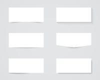Ombre in bianco della casella di testo Fotografia Stock