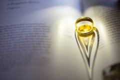 Ombre d'anneau de coeur de Valentine Image libre de droits