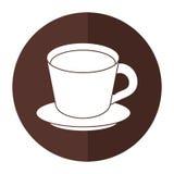 ombre d'assiette creuse de café illustration stock