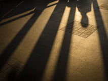 Ombre d'homme Photos libres de droits