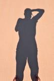 Ombre d'un homme Image stock