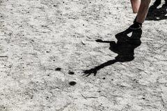 Ombre d'un jongleur images libres de droits